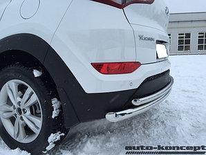 Защита задняя двойная D 60,3/42,4 кроме High-tech Hyundai Tucson 2015-
