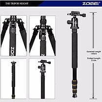 Штатив+ монопод 2в1 Zomei Z688 для фото и видео/ до 12кг/163см, фото 3