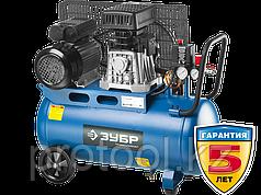 Компрессор воздушный, ЗУБР Профессионал ЗКПМ-360-50-Р-2.2, поршневой, масляный, ременной привод, 360 л/мин, 50