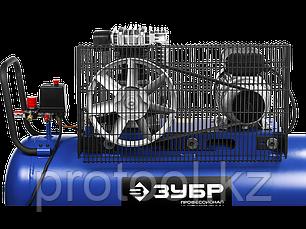 Компрессор воздушный, ЗУБР Профессионал ЗКПМ-440-100-Р-2.2, поршневой, масляный, ременной привод, 440 л/мин, фото 2