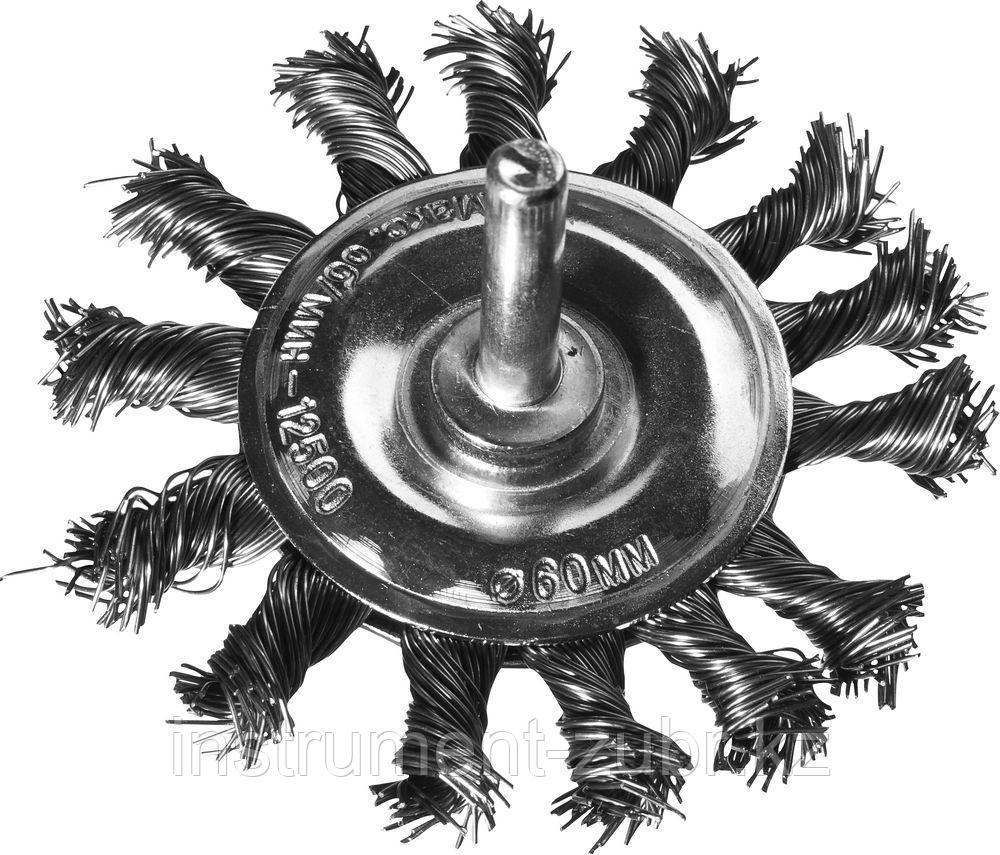 DEXX. Щетка дисковая для дрели, жгутированная стальная проволока 0,5мм, 75мм