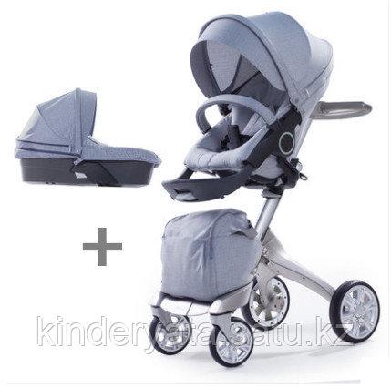 Детская коляска Dsland 2 в 1 V6 Grey Jeans