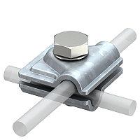 Соединитель Vario для быстрого монтажа круглых проводников диаметром 8-10 мм, оцинкованный 249 8-10 ST, фото 1