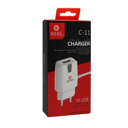 Зарядное устройство Rere С-11 Lightning USB, фото 2