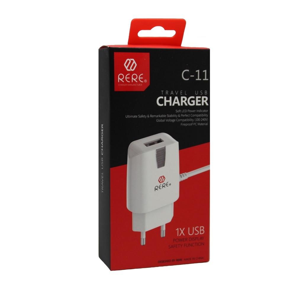 Зарядное устройство Rere С-11 Lightning USB