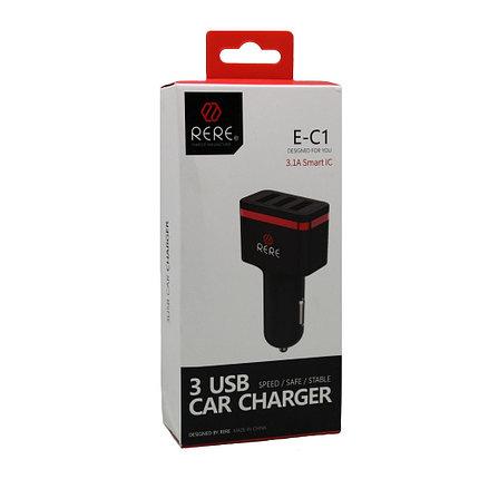 Автомобильное зарядное устройство Rere E-C1 3A Micro USB, фото 2