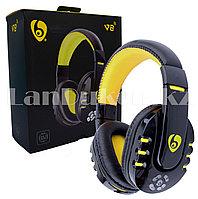 Беспроводные Стерео Bluetooth наушники V8 (черно-желтые)