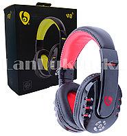 Беспроводные Стерео Bluetooth наушники V8 (черно-красные)