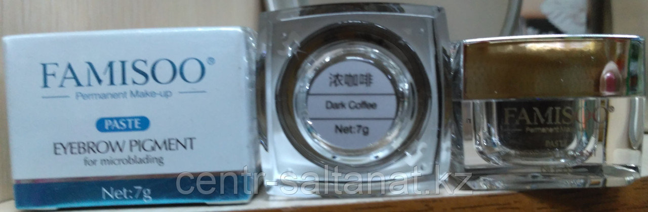 Пигмент крем Blak Coffee Famisoo для микроблейдинга, татуажа