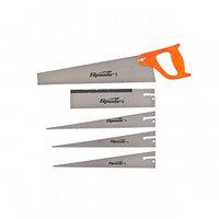 Ножовка по дереву 350 мм 5 сменных полотен пластиковая рукоятка SPARTA 231255 (002)