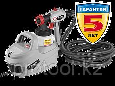 Краскопульт (краскораспылитель) электрич, ЗУБР КПЭ-650, HVLP, 0.8л, краскоперенос 0-800мл/мин,60 DIN