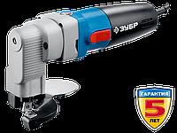 Ножницы по металлу электрические, ЗУБР Профессионал ЗНЛ-500, радиус поворота 40 мм, толщина листа до 2.5 мм