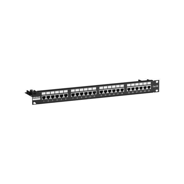 "LinkBasic  PNS24-SC5E  Коммутационная панель 5е кат., FTP 19"", 1U, 24хRJ45"