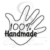 "ФП штамп ""100% Handmade"" в ладошке"