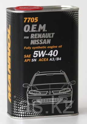Моторное масло MANNOL O.E.M. for Renault Nissan 5w40 1 литр