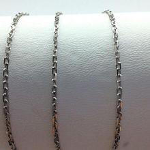 Серебряная цепь якорного плетения