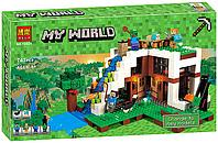 "Конструктор Minecraft ""База на водопаде"" , 747 дет"