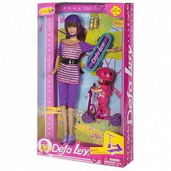 """8191 Defa Lucy Игровой набор """"Спортсменки"""" - кукла Lucy (29см) и малыш со спортивными аксессуарами,"""