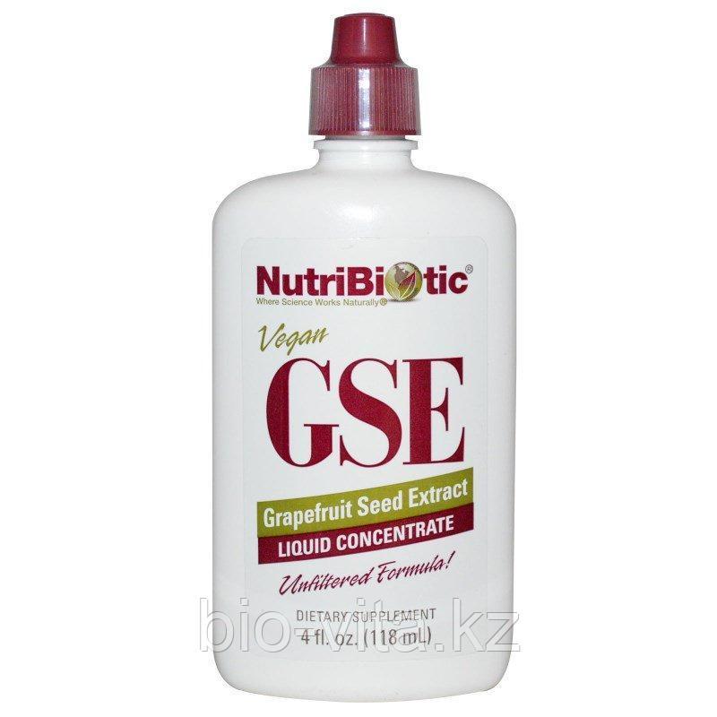 NutriBiotic, GSE экстракт грейпфрутовой косточки, жидкий концентрат, (118 мл) Растительный антибиотик.