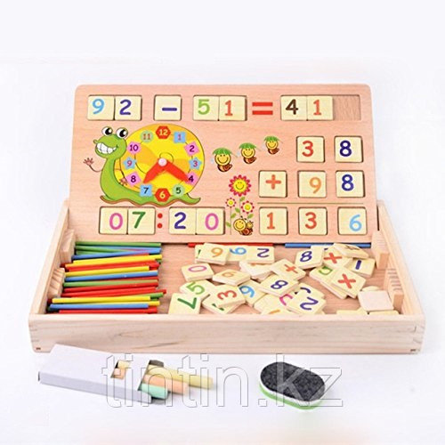 Деревянный набор с цифрами и знаками, набор первоклассника, KXM-880