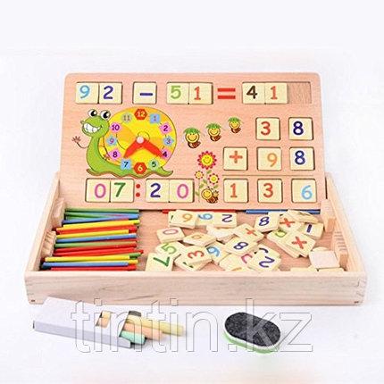 Деревянный набор с цифрами и знаками, набор первоклассника, KXM-880, фото 2