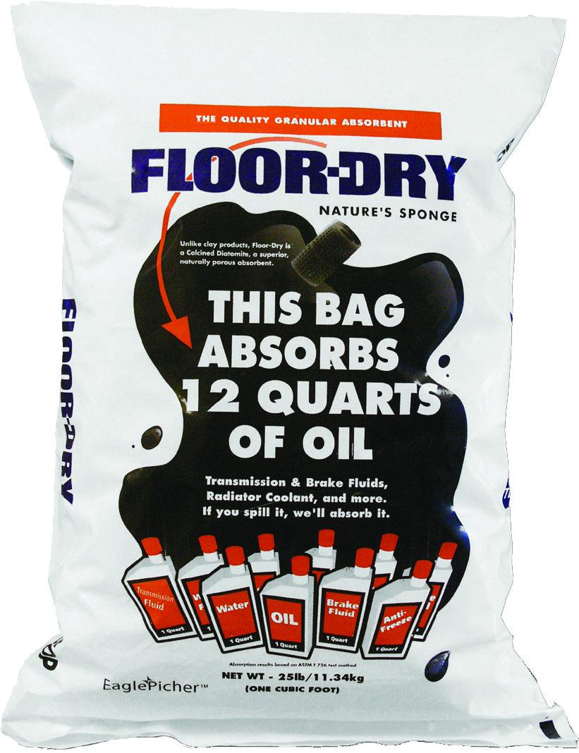 Диатомовый гранулированный абсорбент Floor-Dry 9кг.