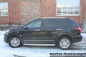 Пороги с площадкой D 60,3 Ford  Explorer 2011-2015-