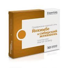 Йохимбе и женьшень Essentials by Siberian Health