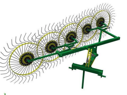 Грабли-ворошилки 5-колесные Польша (завода Ekiw), фото 2