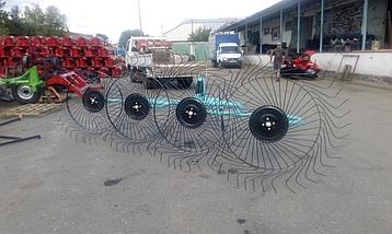 Грабли-ворошилки OGR 4х колесные, навесные (2.6м), фото 2