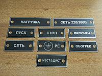 Металлические лейблы на оборудование, щиты и т.д