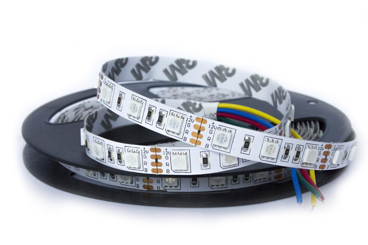 Светодиодная лента 60SMD5050, IP20, 14,4W, цвет - RGB (полноцвет), 5м