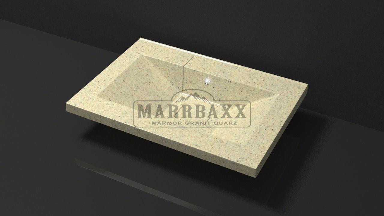 Умывальник из искусственного гранита MARRBAXX  серия Granit MARR Джуди V7  бежевый фреш (662 мм)