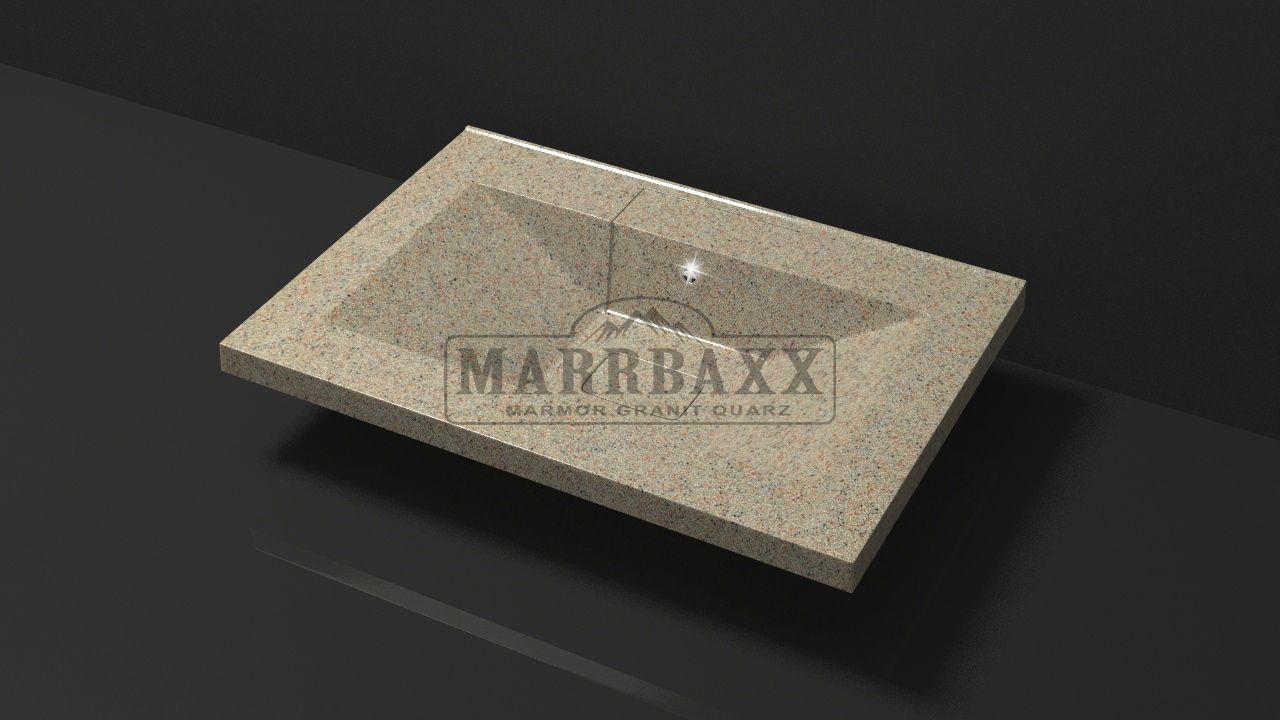 Умывальник из искусственного гранита MARRBAXX  серия Granit MARR Джуди V7 песочный (662 мм)