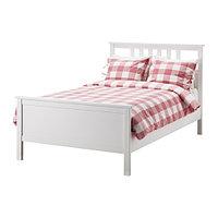 Кровать каркас ХЕМНЭС белая морилка 120х200 Лурой ИКЕА, IKEA, фото 1