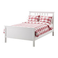 Кровать каркас ХЕМНЭС белая морилка 120х200 ИКЕА, IKEA, фото 1