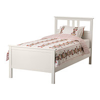 Кровать каркас ХЕМНЭС белая морилка 90х200 Лурой ИКЕА, IKEA, фото 1