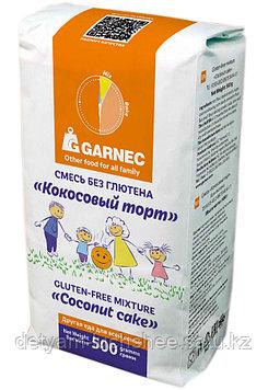 Смесь без глютена «Кокосовый торт» Производитель: Гарнец, Россия Объем: 500 г