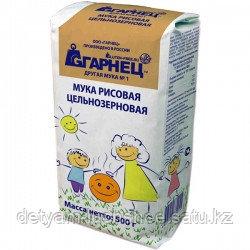 Мука рисовая цельнозерновая Гарнец, 500 гр