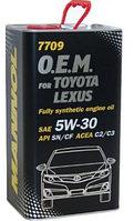 Моторное масло MANNOL O.E.M. for Toyota Lexus 5w30 4 литра