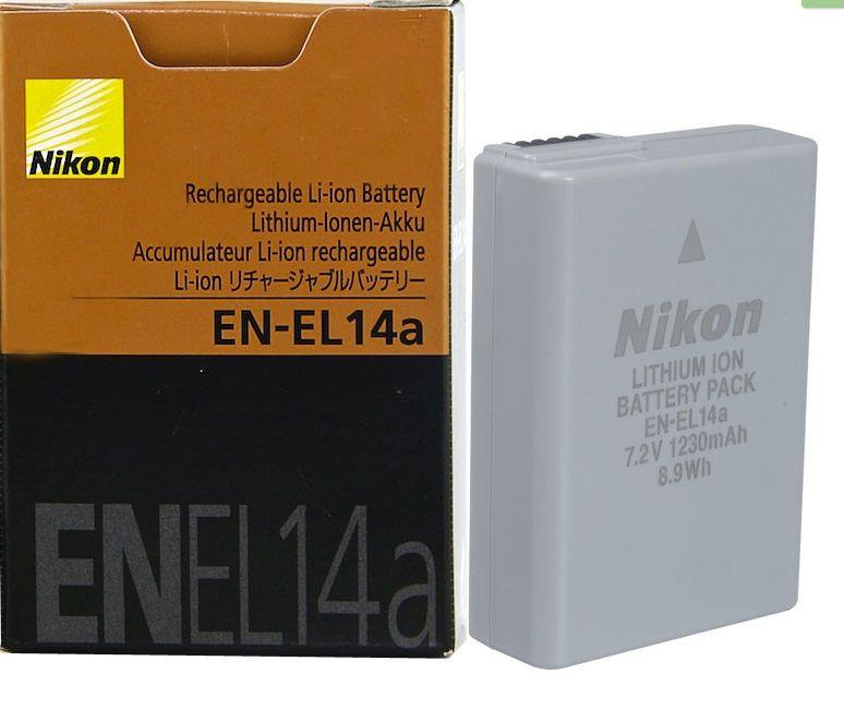 Аккумуляторы EN-EL14A на Nikon D3200 D3100 D5300 P7100 P7700 P7800