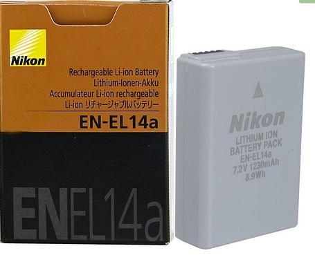 Аккумуляторы EN-EL14A на Nikon D3200 D3100 D5300 P7100 P7700 P7800, фото 2