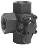 3-ходовые компактные резьбовые поворотные клапаны