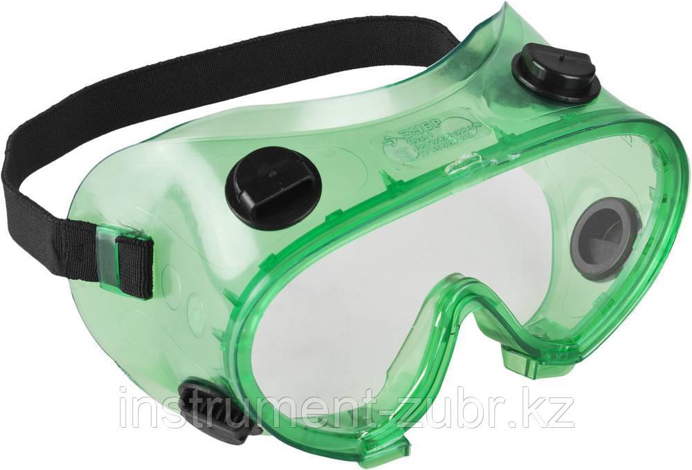 """Очки ЗУБР """"МАСТЕР"""" защитные закрытого типа, с непрямой вентиляцией, линза поликарбонатная"""