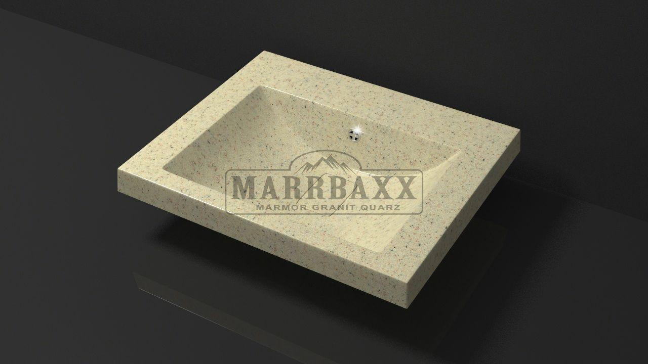 Умывальник из искусственного гранита MARRBAXX  серия Granit MARR  Эрика V15  бежевый фреш  (585 мм)