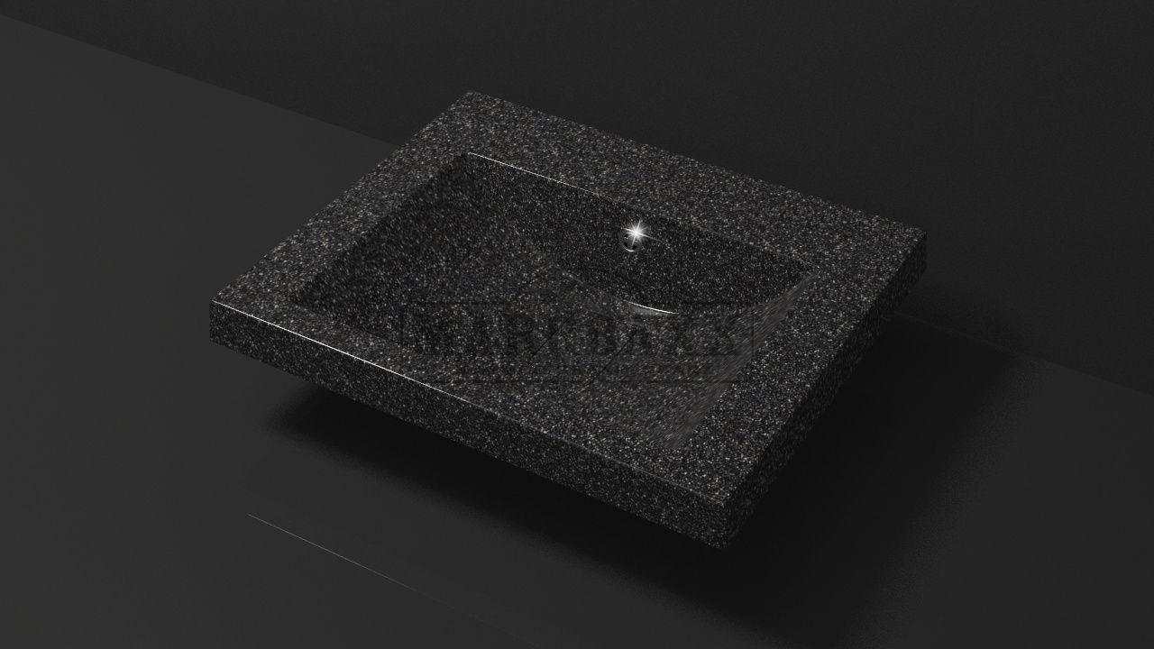Умывальник из искусственного гранита MARRBAXX  серия Granit MARR  Эрика V15  черный  (585 мм)