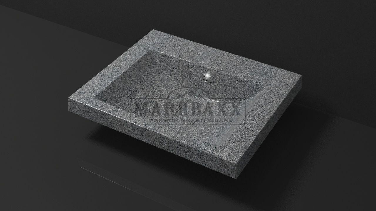Умывальник из искусственного гранита MARRBAXX  серия Granit MARR  Эрика V15  темно-серый  (585 мм)