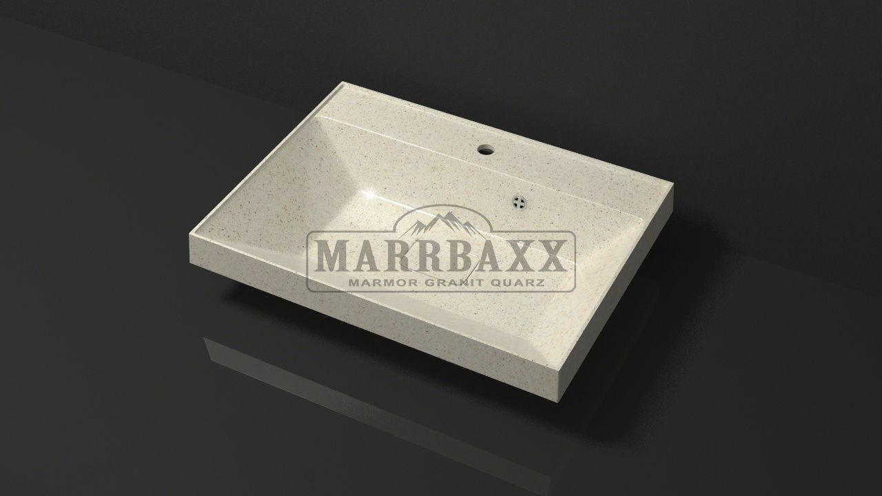 Умывальник из искусственного гранита MARRBAXX  серия Granit MARR   Дакота V16  бежевый (605 мм)