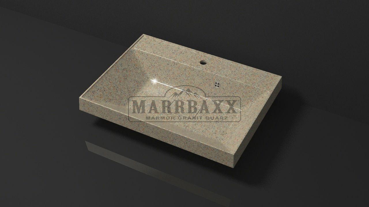 Умывальник из искусственного гранита MARRBAXX  серия Granit MARR   Дакота V16 песочный (605 мм)