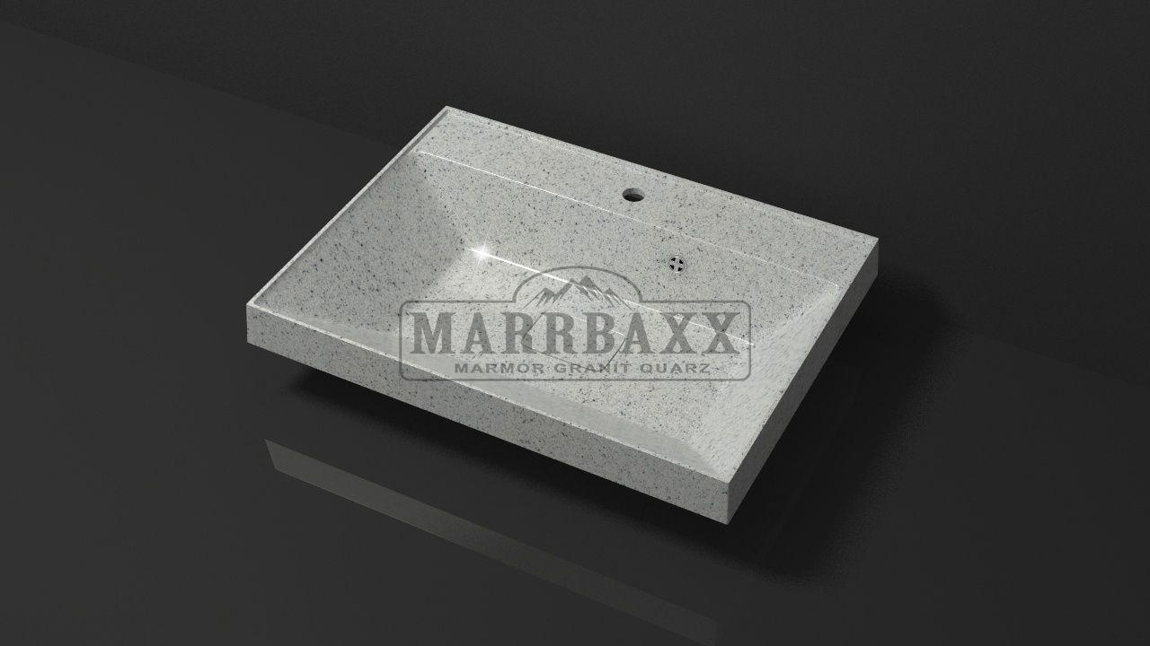 Умывальник из искусственного гранита MARRBAXX  серия Granit MARR   Дакота V16 серый (605 мм)